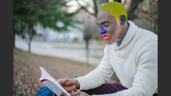 Facial segementation neural network demo image