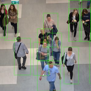 People detection neural network demonstration image